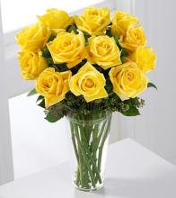 The Long Stem Yellow Rose Bouquet